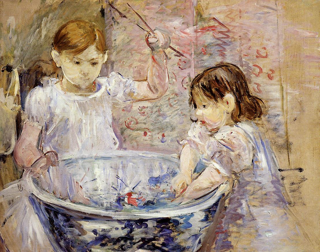 Children with a Bowl 1886 | Berthe Morisot | Oil Painting
