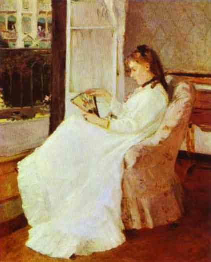 The Artists Sister At A Window 1869 | Berthe Morisot | Oil Painting
