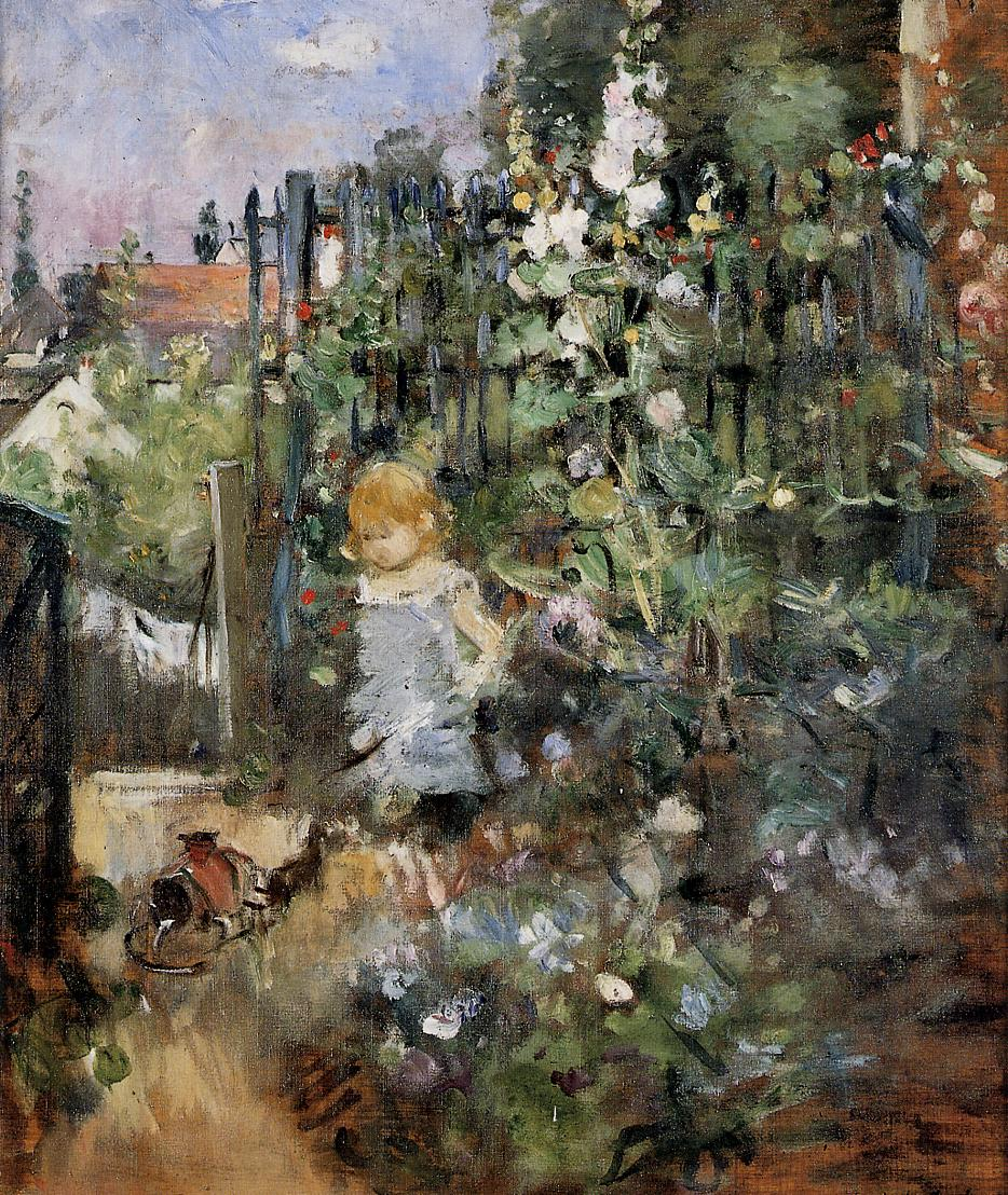 Child in the Rose Garden 1881 | Berthe Morisot | Oil Painting