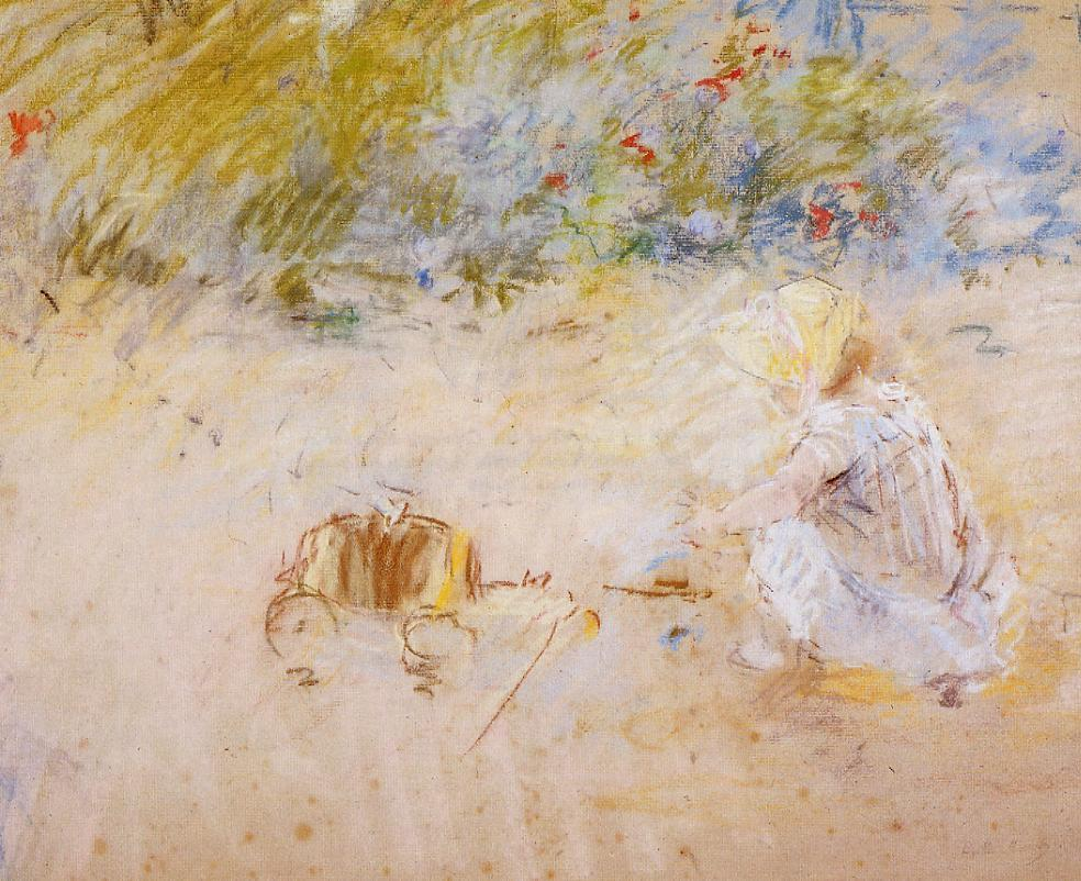 Child Playing in the Garden 1882 | Berthe Morisot | Oil Painting