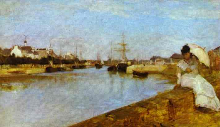 The Harbor At Lorient 1869 | Berthe Morisot | Oil Painting
