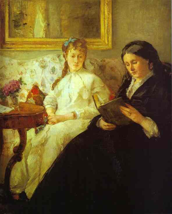 The Mother And Sister Of The Artist (Reading) 1869-70 | Berthe Morisot | Oil Painting