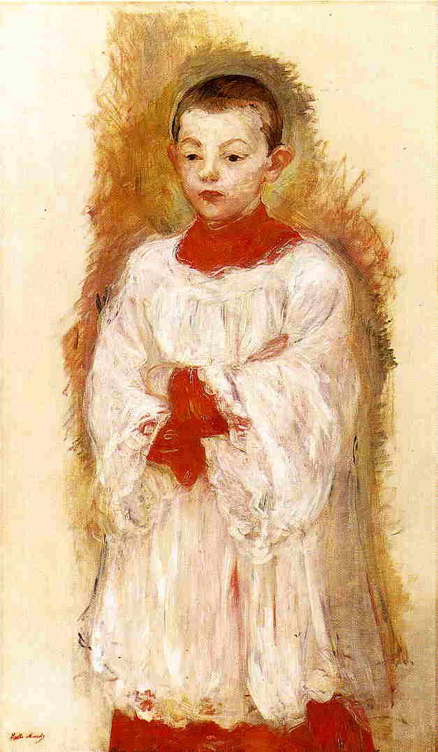 Choir Boy 1894   Berthe Morisot   Oil Painting