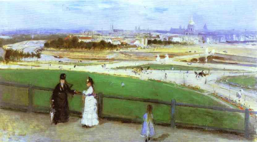 View Of Paris From The Trocadero 1872 | Berthe Morisot | Oil Painting
