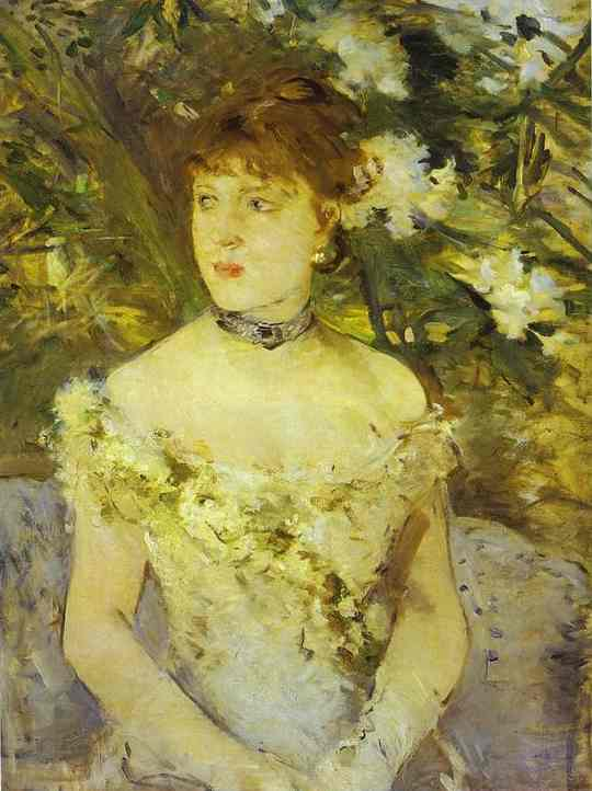 Young Woman In An Evening Dress 1879 | Berthe Morisot | Oil Painting