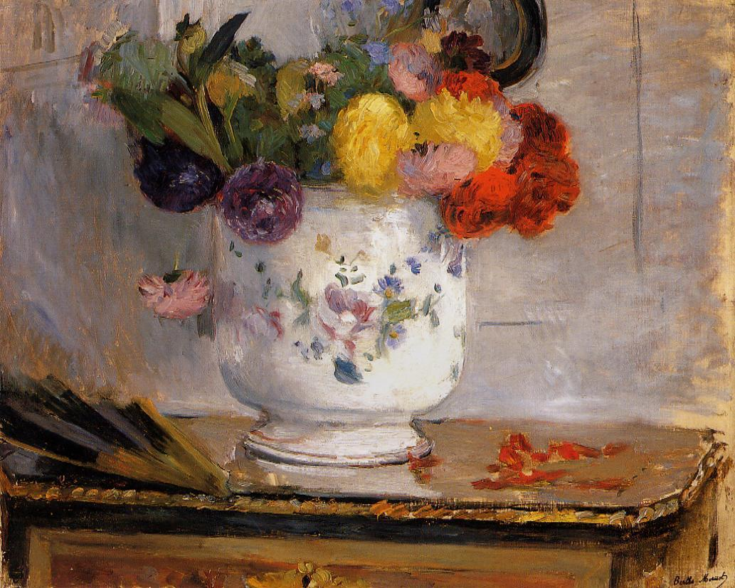 Dahlias 1876 | Berthe Morisot | Oil Painting