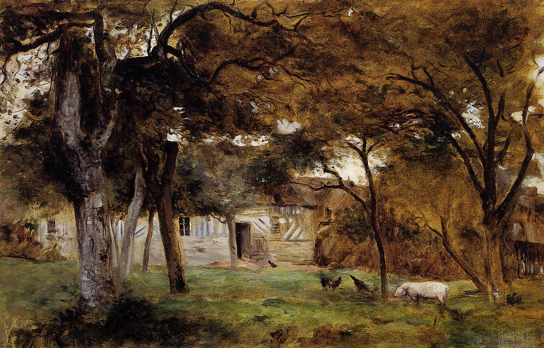 Farm in Normandy 1859 | Berthe Morisot | Oil Painting