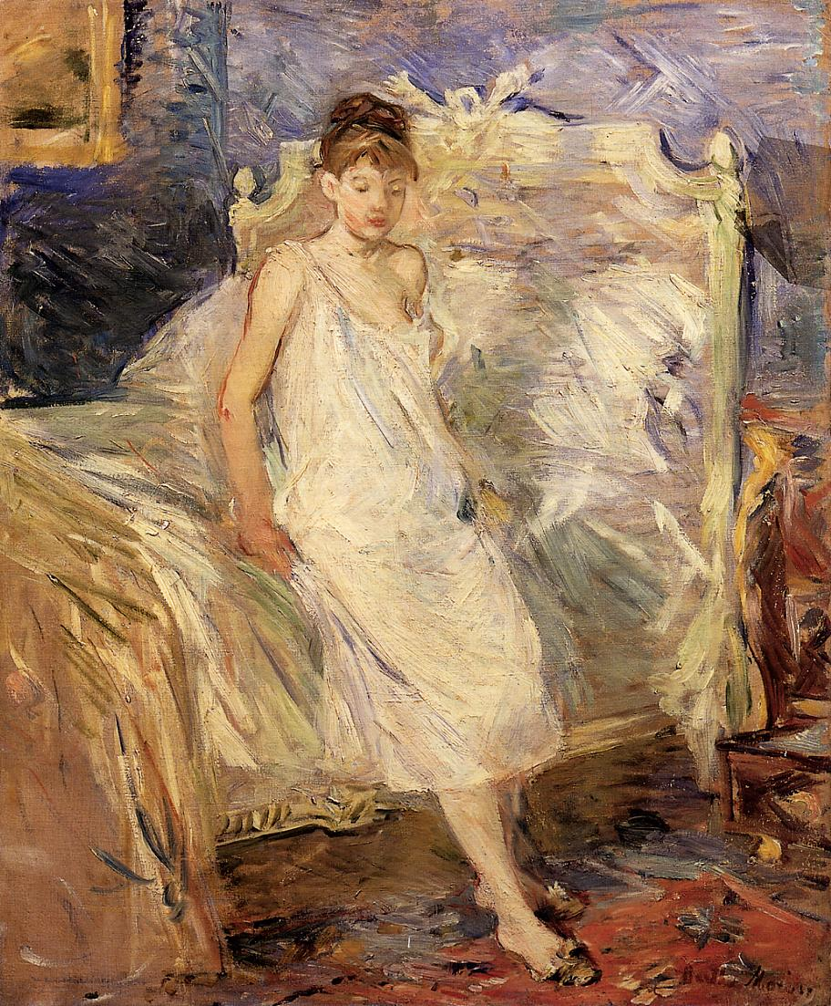 Getting Up 1885-1886 | Berthe Morisot | Oil Painting