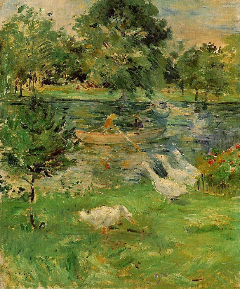 Girl in a Boat with Geese 1889 | Berthe Morisot | Oil Painting