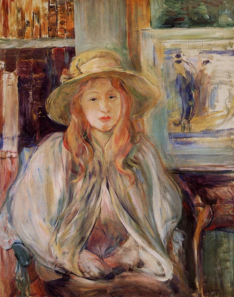 Girl in a Straw Hat 1892 | Berthe Morisot | Oil Painting