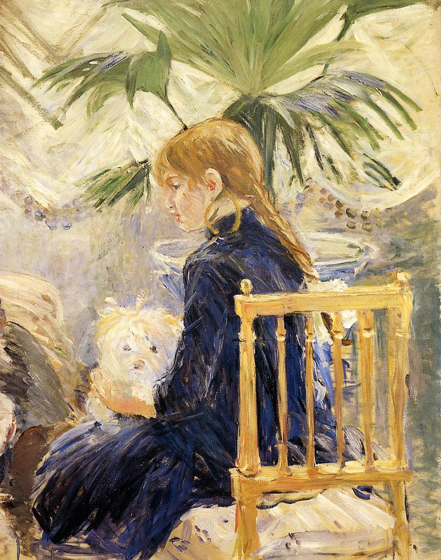 Girl with Dog 1886 | Berthe Morisot | Oil Painting
