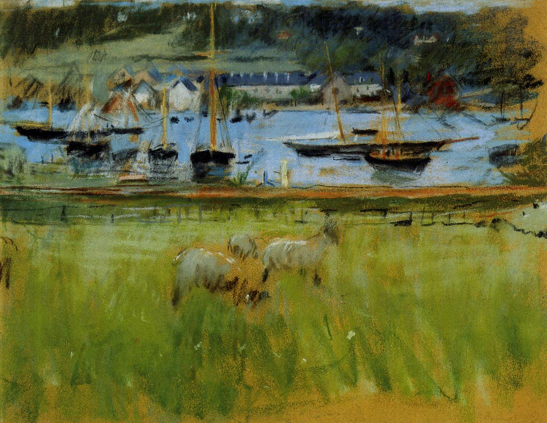 Harbor in the Port of Fecamp 1874 | Berthe Morisot | Oil Painting