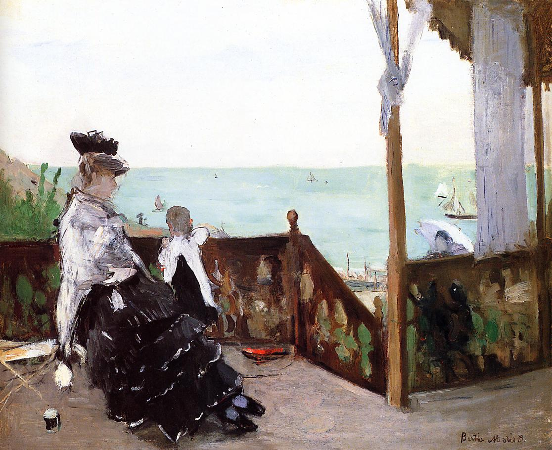 In a Villa at the Seaside 1874 | Berthe Morisot | Oil Painting