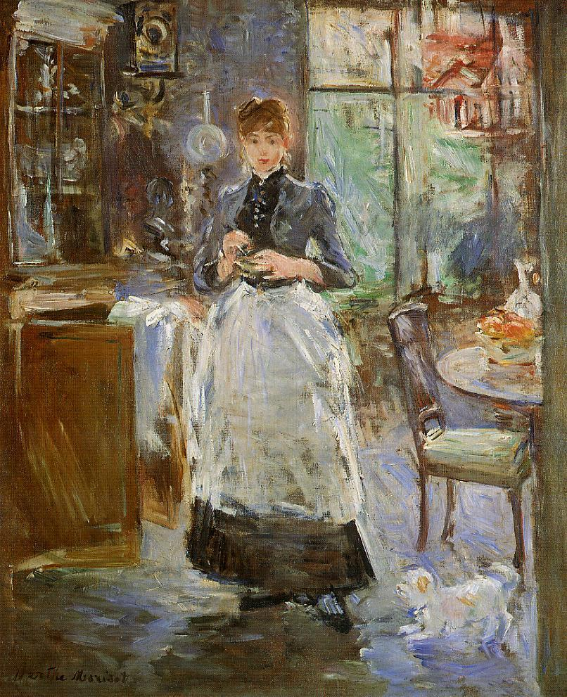 In the Dining Room 1886 | Berthe Morisot | Oil Painting