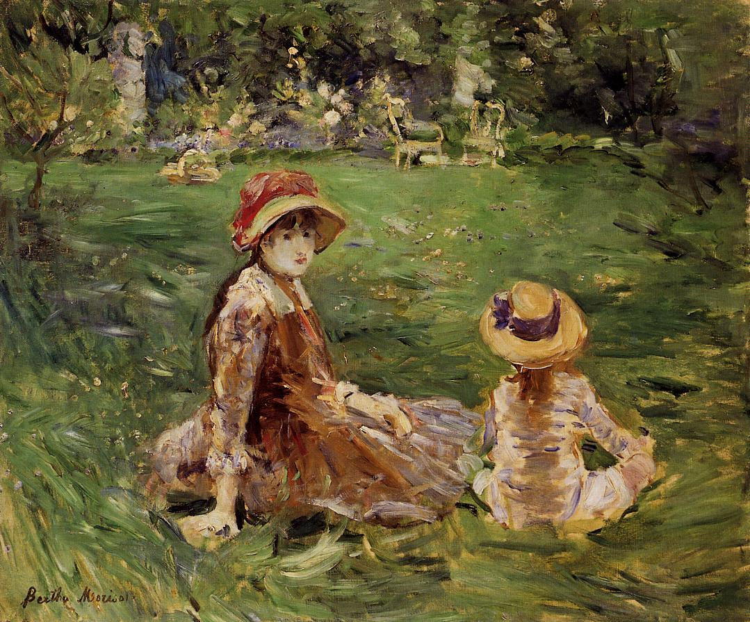 In the Garden at Maurecourt 1884 | Berthe Morisot | Oil Painting