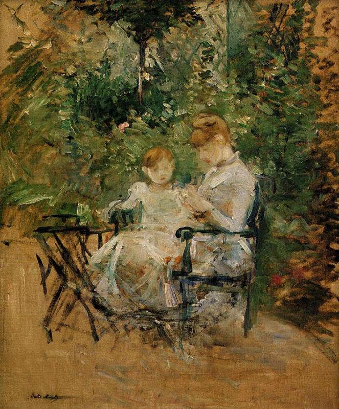 In the Garden 1885 | Berthe Morisot | Oil Painting