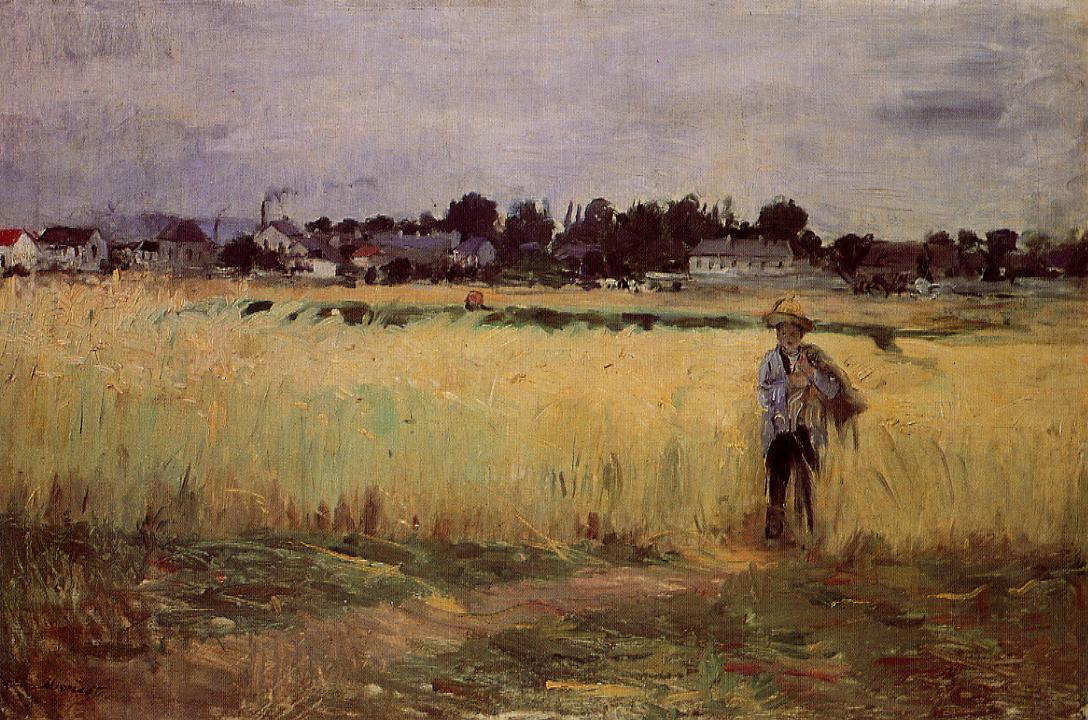In the Wheat Fields at Gennevilliers 1875 | Berthe Morisot | Oil Painting