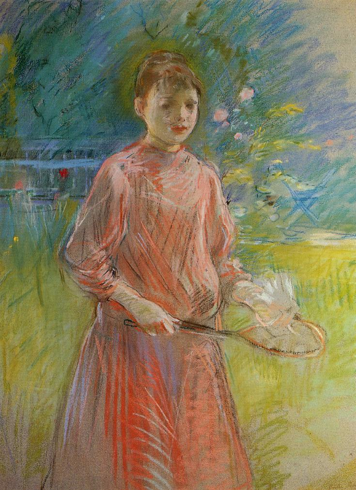 Girl with Shuttlecock (aka Jeanne Bonnet) 1888 | Berthe Morisot | Oil Painting