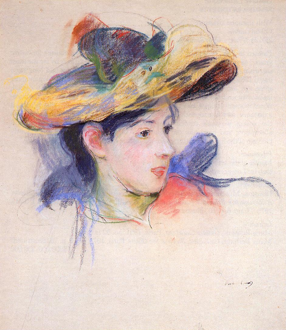 Jeanne Pontillon Wearing a Hat 1893 | Berthe Morisot | Oil Painting