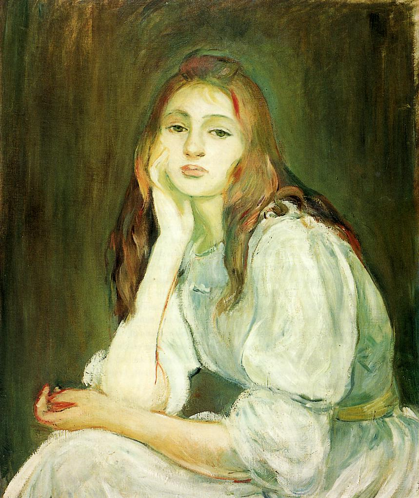 Julie Daydreaming 1894 | Berthe Morisot | Oil Painting