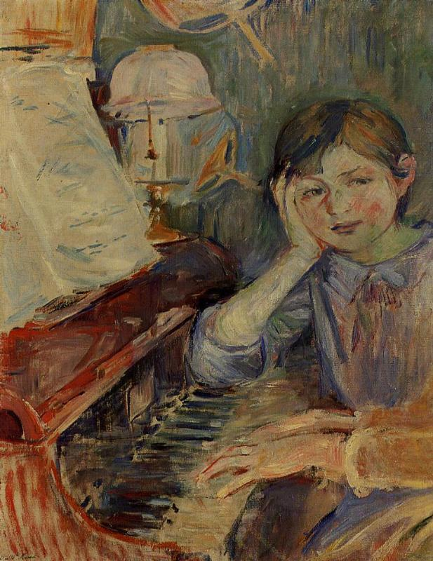 Julie Listening 1888 | Berthe Morisot | Oil Painting