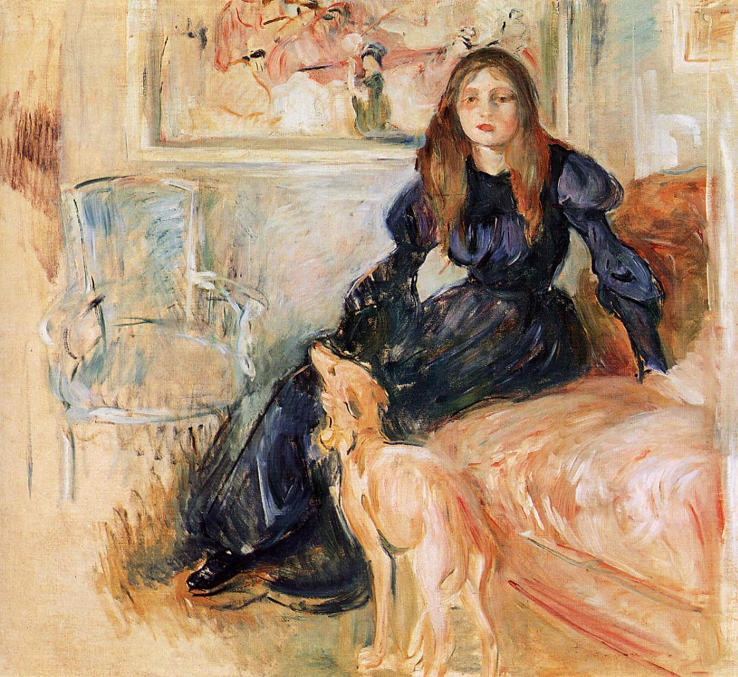 Julie Manet and Her Greyhound Laertes 1893 | Berthe Morisot | Oil Painting