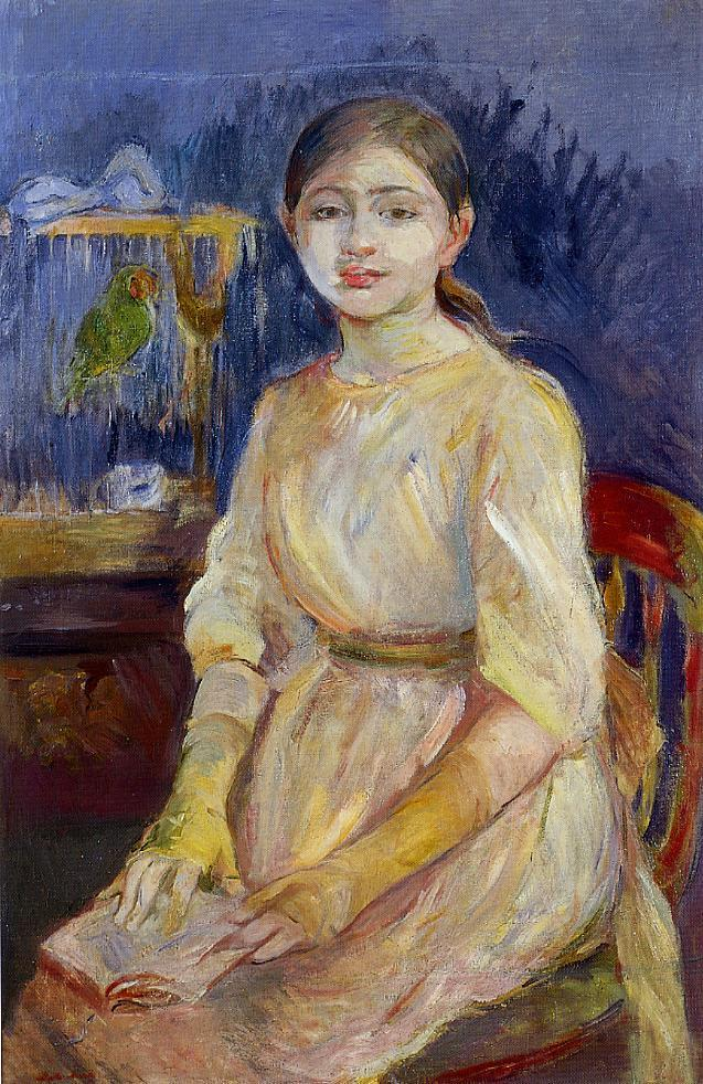Julie Manet with a Budgie 1890 | Berthe Morisot | Oil Painting