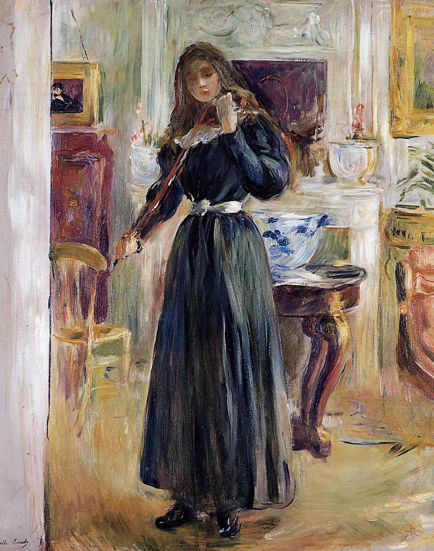 Julie Playing a Violin 1893 | Berthe Morisot | Oil Painting