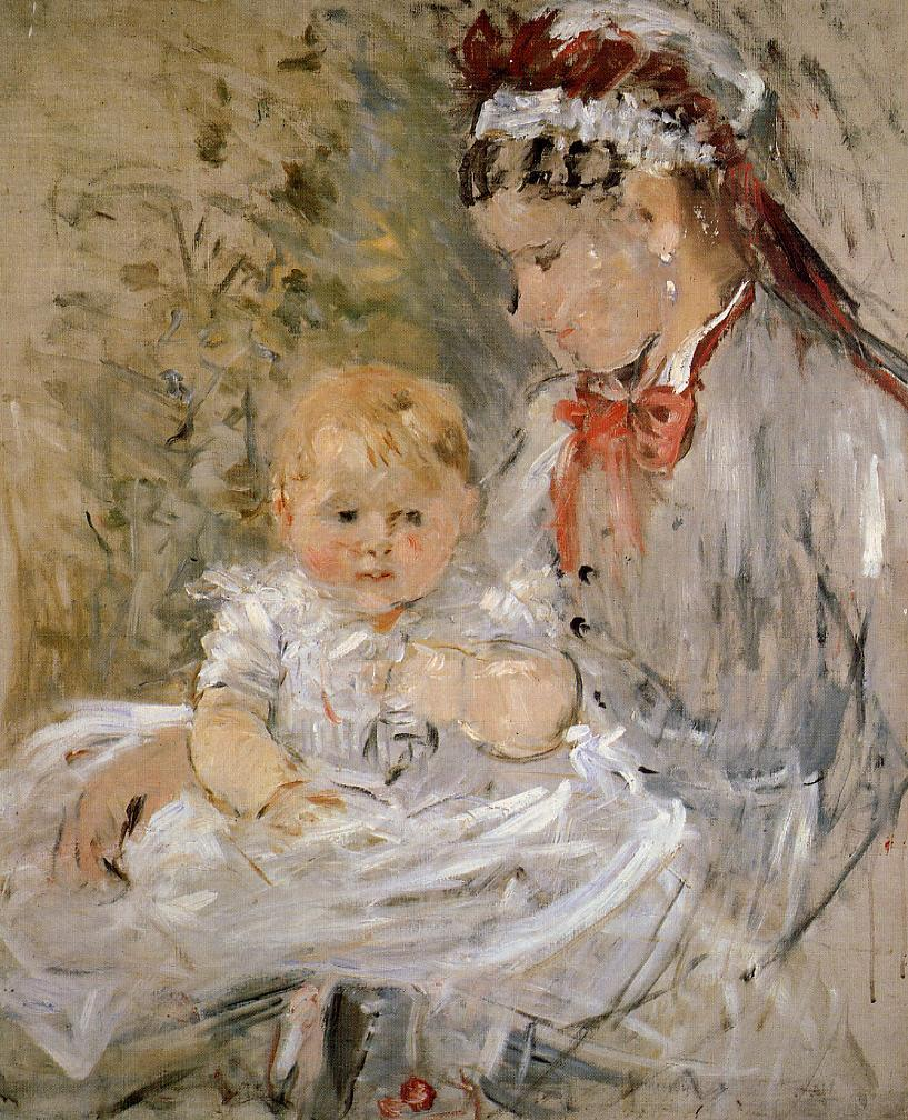 Julie with Her Nurse 1880 | Berthe Morisot | Oil Painting