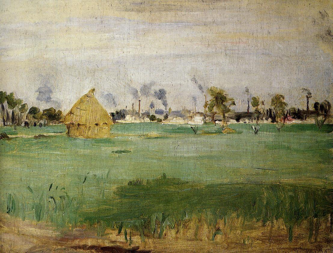 Landscape at Gennevilliers 1875 | Berthe Morisot | Oil Painting