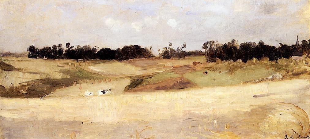 Landscape near Valenciennes 1875 | Berthe Morisot | Oil Painting