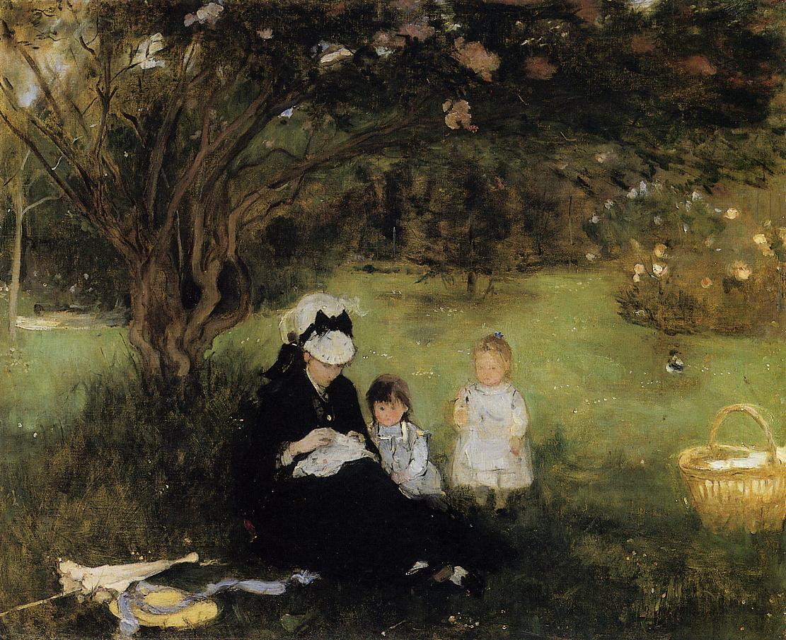 Lilacs at Maurencourt 1874 | Berthe Morisot | Oil Painting