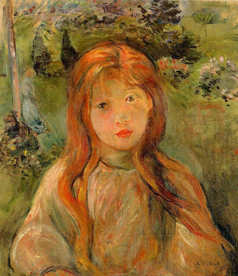 Little Girl at Mesnil (Jeanne BODEAU) 1892 | Berthe Morisot | Oil Painting