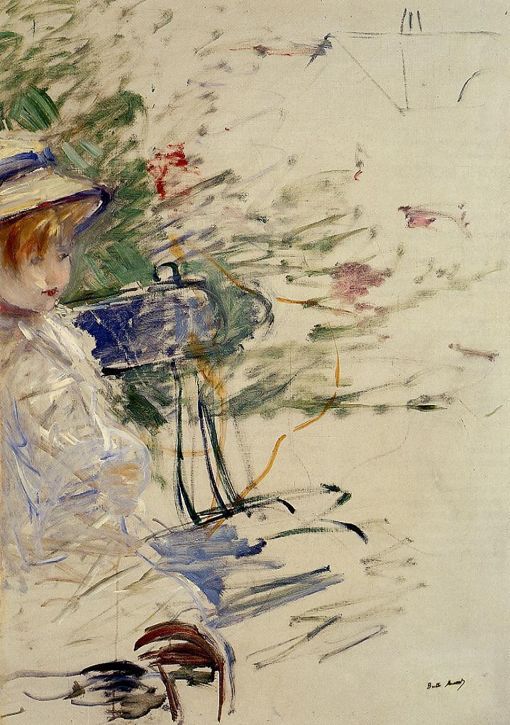 Little Girl in a Garden 1884 | Berthe Morisot | Oil Painting