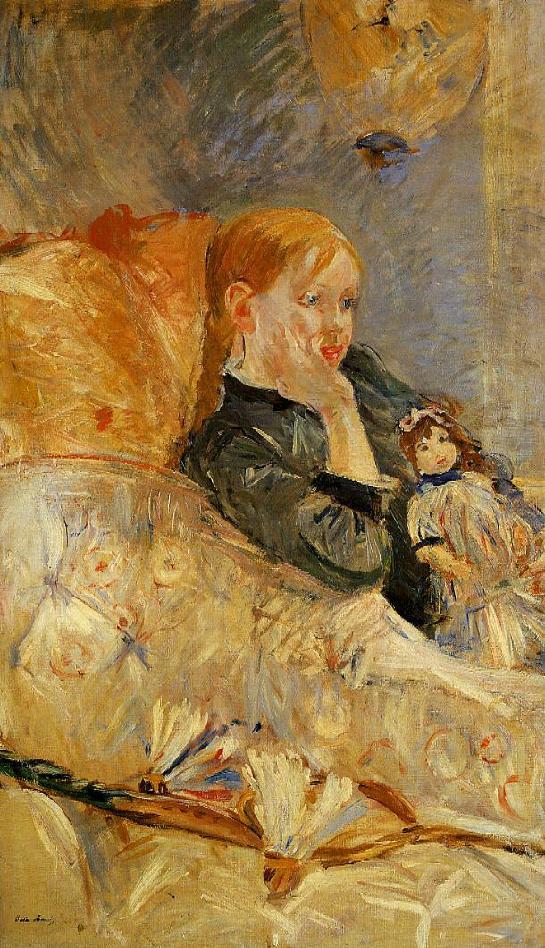 Little Girl with a Doll 1886 | Berthe Morisot | Oil Painting