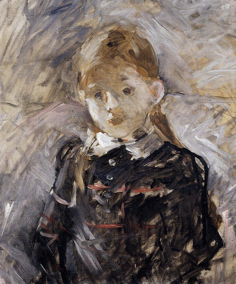 Little Girl with Blond Hair 1883 | Berthe Morisot | Oil Painting