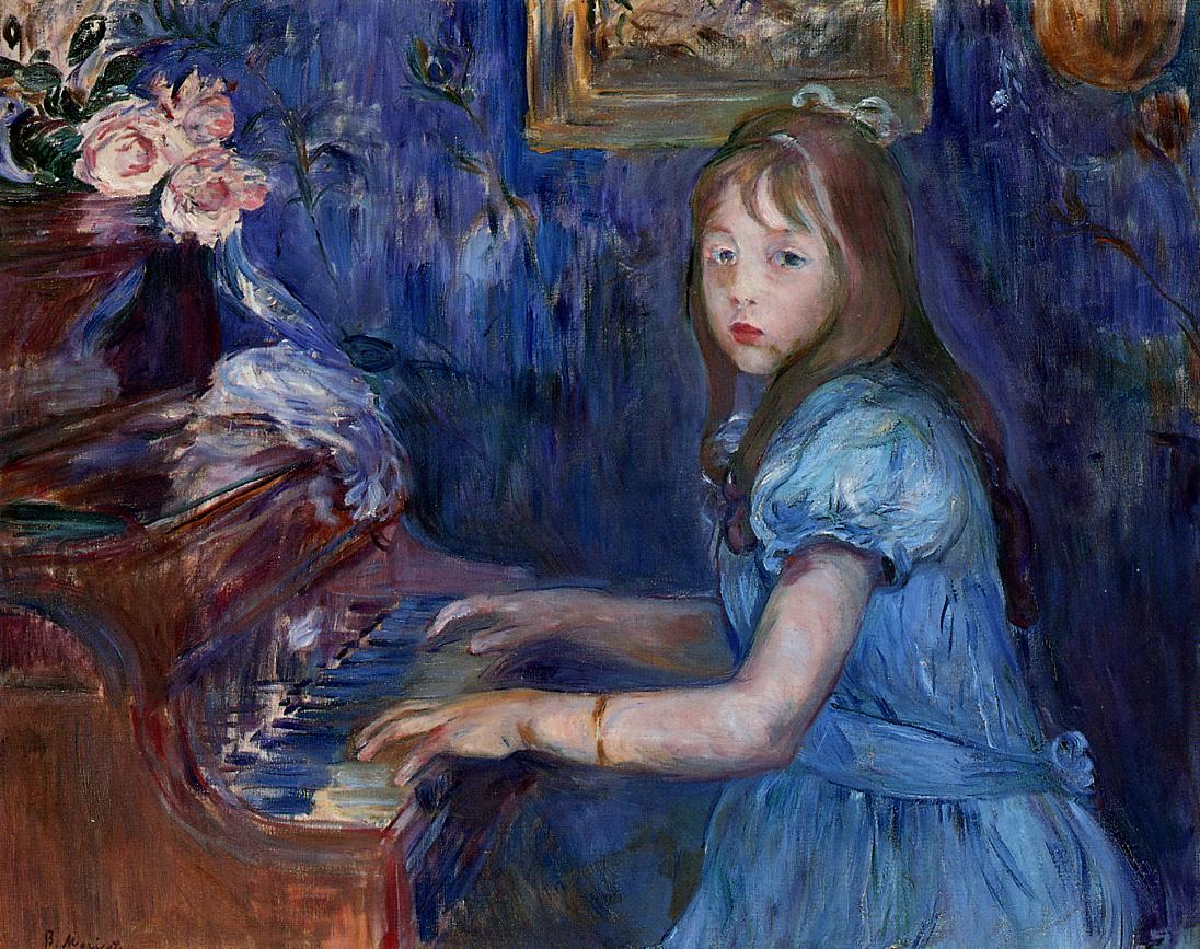 Lucie Leon at the Piano 1892 | Berthe Morisot | Oil Painting