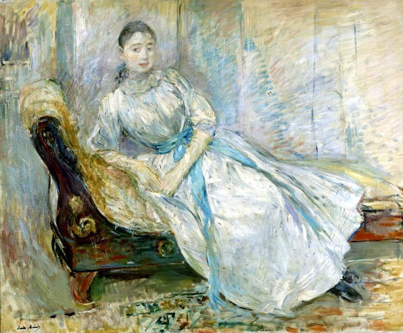 Madame Albine Sermicola in the Studio 1889 | Berthe Morisot | Oil Painting