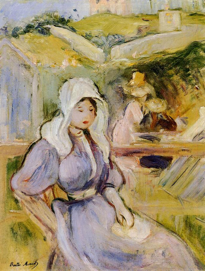 On the Beach at Portrieux 1894 | Berthe Morisot | Oil Painting