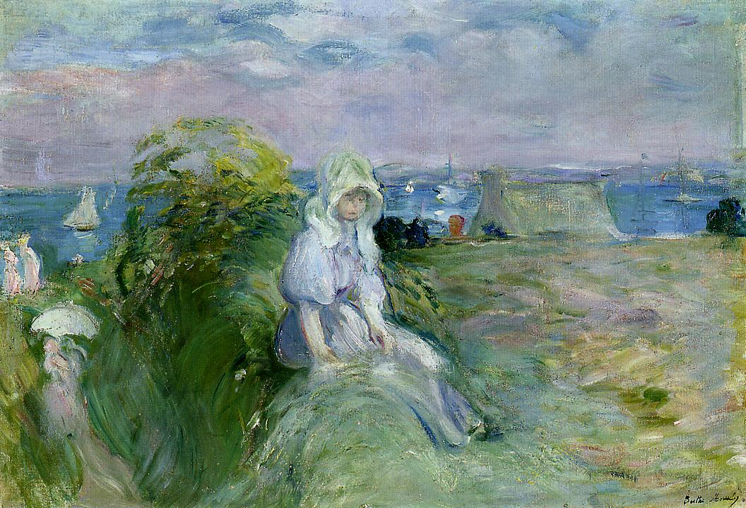 On the Cliff at Portrieux 1894 | Berthe Morisot | Oil Painting