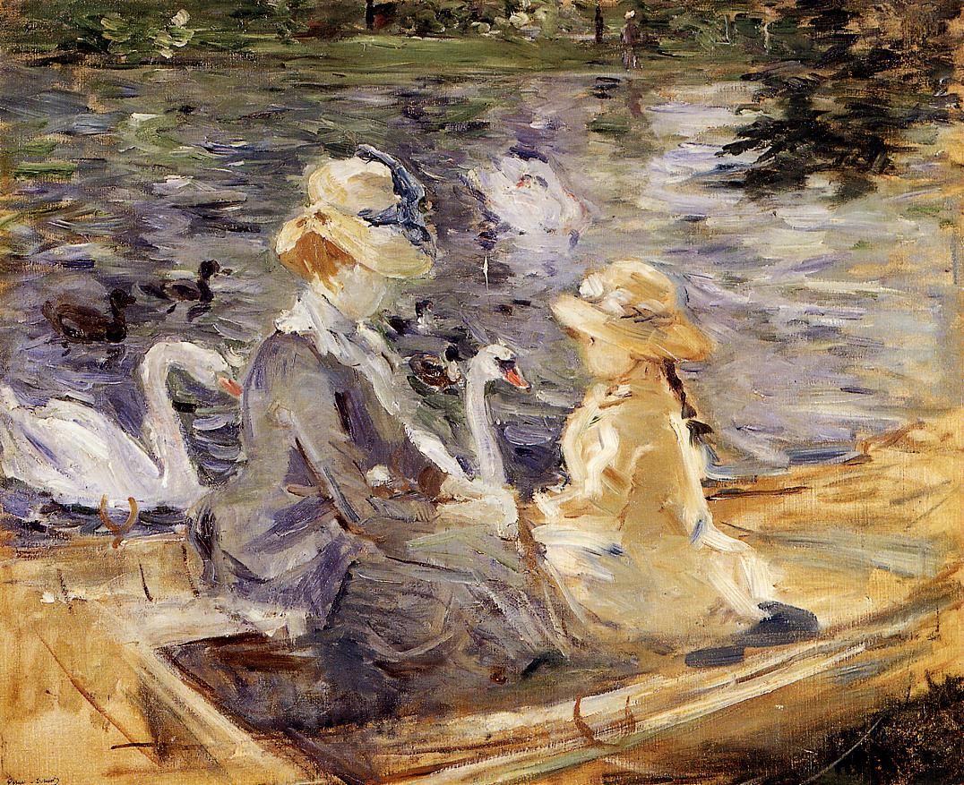 On the Lake in the Bois de Boulogne 1884 | Berthe Morisot | Oil Painting