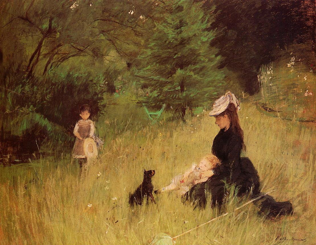 On the Lawn 1874 | Berthe Morisot | Oil Painting