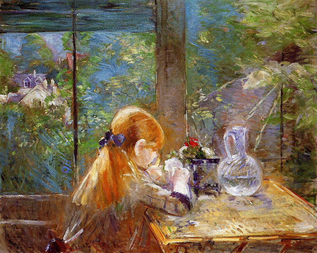 On the Veranda 1884 | Berthe Morisot | Oil Painting