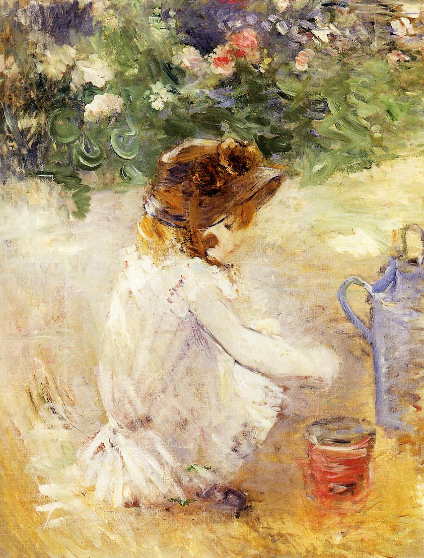 Playing in the Sand 1882 | Berthe Morisot | Oil Painting