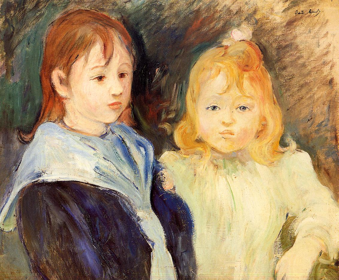 Portrait of Children 1893 | Berthe Morisot | Oil Painting