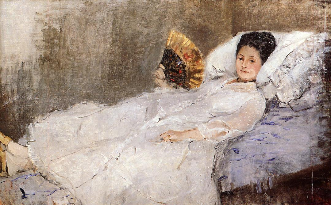 Portrait of Madame Hubbard 1874 | Berthe Morisot | Oil Painting