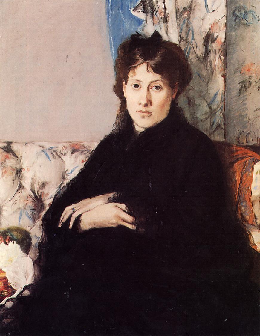 Portrait of Madame Pontillon 1871 | Berthe Morisot | Oil Painting