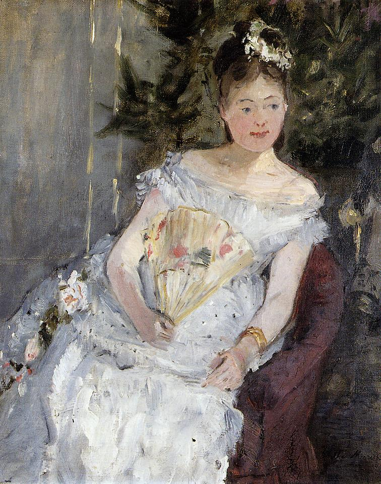 Portrait of Marguerite Carre (aka Young Girl in a Ball Gown) 1873 | Berthe Morisot | Oil Painting