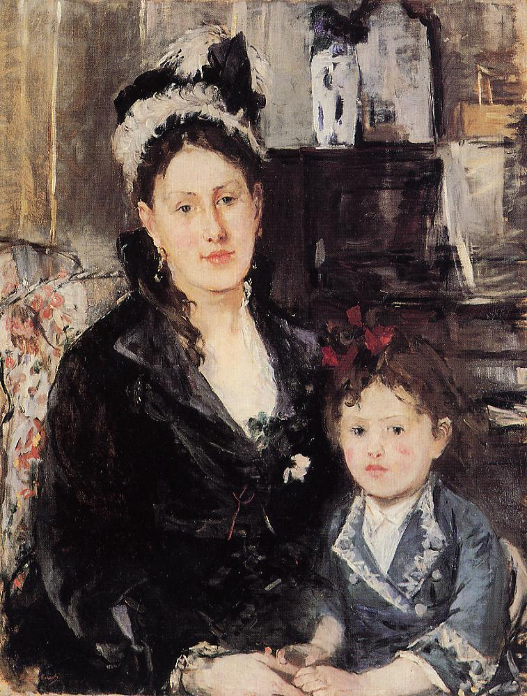 Portrait of Maria Boursier and Her Daughter 1874 | Berthe Morisot | Oil Painting