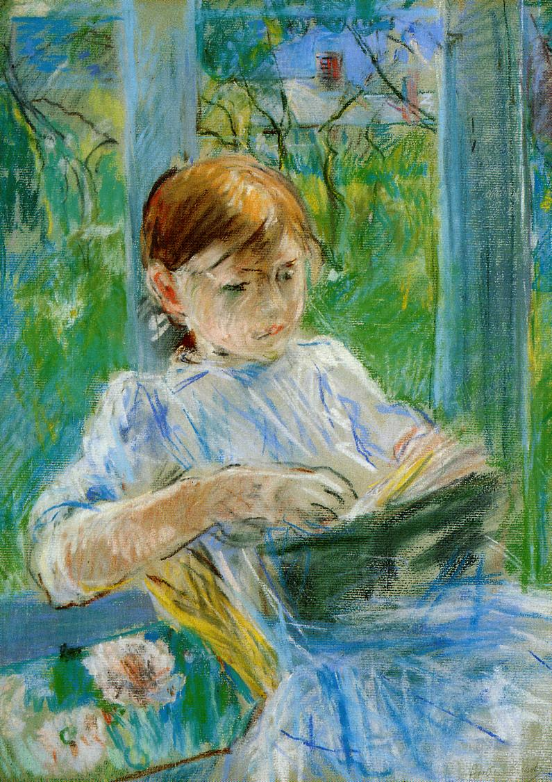 Portrait of the Artist's Daughter Julie Manet at Gorey 1886 | Berthe Morisot | Oil Painting